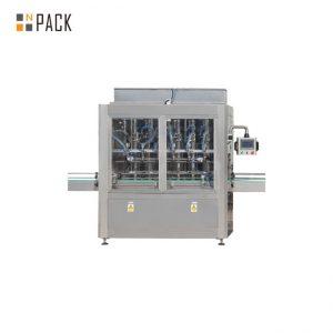 PLC კონტროლის 10 ხელმძღვანელის სიმძიმის ბოთლის შევსების მანქანა 1 - 5L გამწმენდისთვის