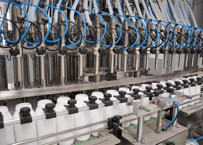 PLC კონტროლის სამრეცხაო სარეცხი სავსე მანქანა ხაზი მაღალი წარმოების ეფექტურობით